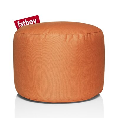 Point Stonewashed Bean Bag Chair Upholstery: Orange