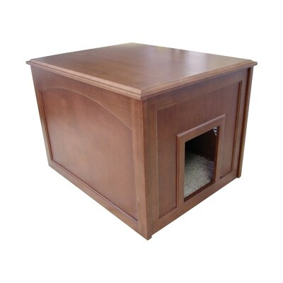 Cat Condo & Litter Box Enclosure Finish: Mahogany