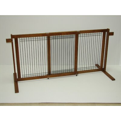 Elisa Tall Freestanding Wood & Wire Pet Gate Size: Large / Wide Span