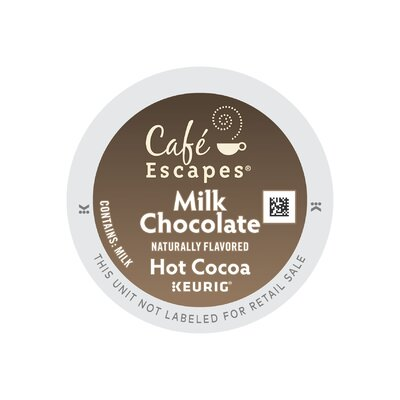 Keurig Caf� Escapes Milk Choc Hot Cocoa K-Cup (Pack of 96) 801-096