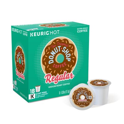 Keurig Donut Shop Regular Coffee K-Cup (Pack of 108) 60018-101