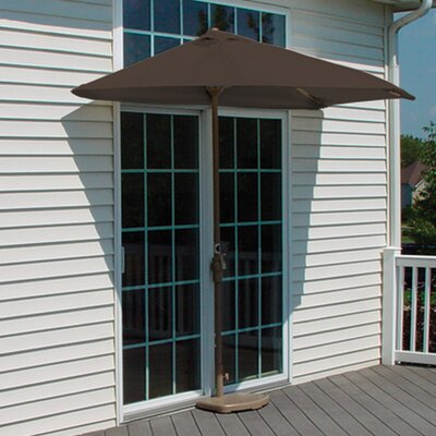 9 Off-The-Wall Brella Market Umbrella Fabric: Chocolate - Sunbrella