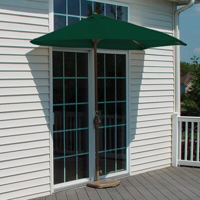 9 Off-The-Wall Brella Market Umbrella Fabric: Green - Sunbrella