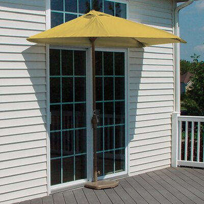 9 Off-The-Wall Brella Market Umbrella Fabric: Yellow - Sunbrella