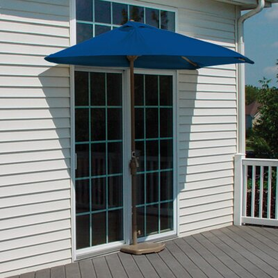 9 Off-The-Wall Brella Market Umbrella Fabric: Blue - Sunbrella