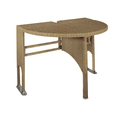 Terrace Mates Adena Half Round Dining Table Finish: Coffee