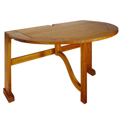 Mates Bistro Half Oval Dining Table - Product photo