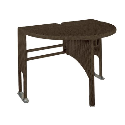 Terrace Mates Genevieve Half Oval Dining Table Finish: Java