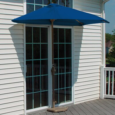 9 Off-The-Wall Brella Market Umbrella Fabric: Blue Olefin