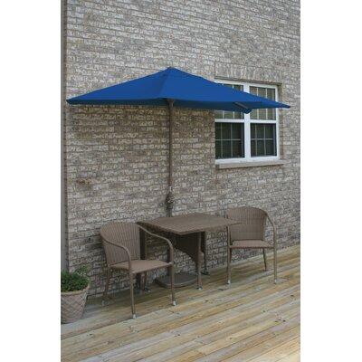 Terrace Mates Daniella All-Weather Wicker Color 5 Piece Dining Set Color: Coffee / Blue Olefin