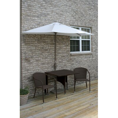 Terrace Mates Daniella All-Weather Wicker Color 5 Piece Dining Set Color: Java / Natural Olefin