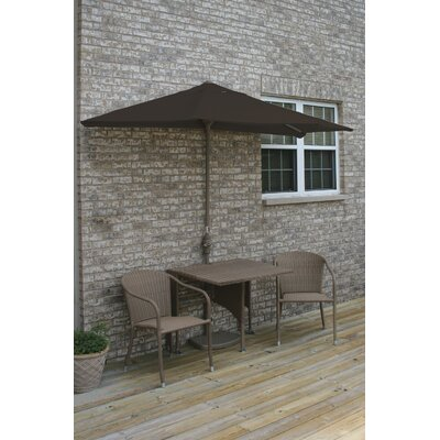 Terrace Mates Daniella All-Weather Wicker Color 5 Piece Dining Set Color: Coffee / Chocolate Olefin