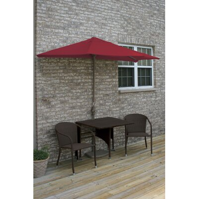 Terrace Mates Daniella All-Weather Wicker Color 5 Piece Dining Set Color: Java / Red Olefin