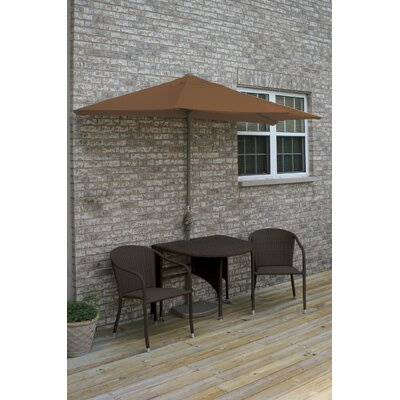 Terrace Mates Genevieve All-Weather Wicker Color 5 Piece Dining Set Color: Java / Teak Sunbrella