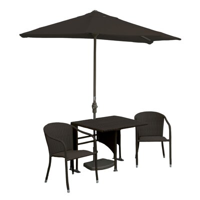 Terrace Mates Daniella All-Weather Wicker Color 5 Piece Dining Set Color: Java / Chocolate Sunbrella