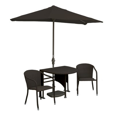 Terrace Mates Genevieve All-Weather Wicker Color 5 Piece Dining Set Color: Java / Chocolate Olefin