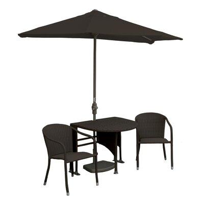Terrace Mates Genevieve All-Weather Wicker Color 5 Piece Dining Set Color: Java / Chocolate Sunbrella