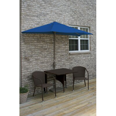 Terrace Mates Daniella All-Weather Wicker Color 5 Piece Dining Set Color: Java / Blue Olefin