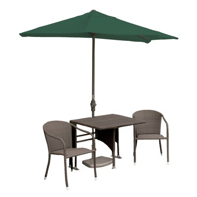 Terrace Mates Daniella 5 Piece Dining Set Color: Green