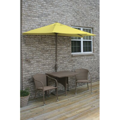 Terrace Mates Daniella All-Weather Wicker Color 5 Piece Dining Set Color: Coffee / Yellow Olefin
