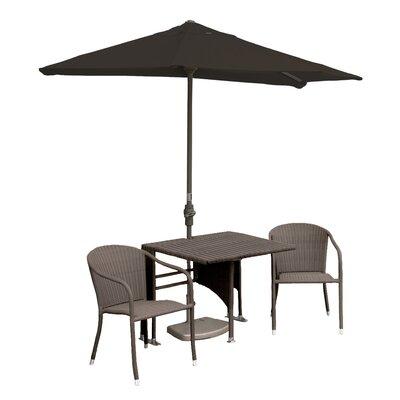 Terrace Mates Daniella All-Weather Wicker Color 5 Piece Dining Set Color: Coffee / Chocolate Sunbrella