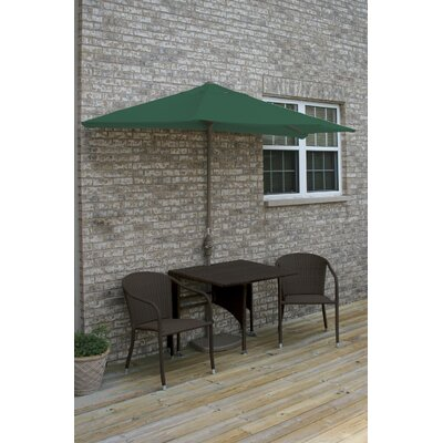Terrace Mates Daniella All-Weather Wicker Color 5 Piece Dining Set Color: Java / Green Sunbrella