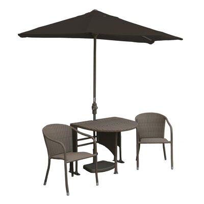 Terrace Mates Genevieve All-Weather Wicker Color 5 Piece Dining Set Color: Coffee / Chocolate Sunbrella