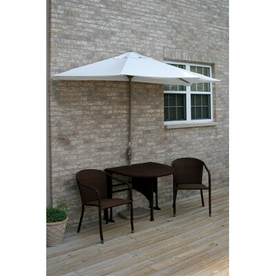 Terrace Mates Genevieve All-Weather Wicker Color 5 Piece Dining Set Color: Java / Natural Sunbrella