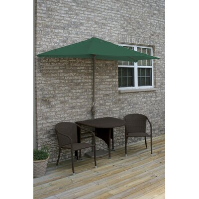 Terrace Mates Genevieve All-Weather Wicker Color 5 Piece Dining Set Color: Java / Green SolarVista