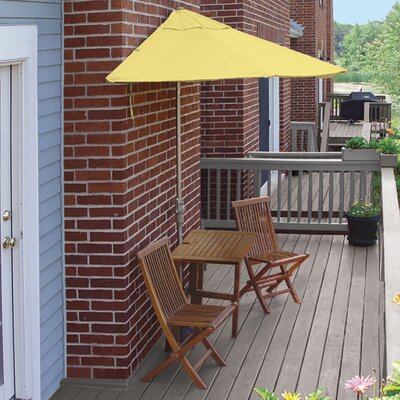 Terrace Mates Villa Economy 5 Piece Dining Set Color: Yellow Sunbrella