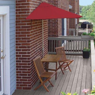 Terrace Mates Villa Economy 5 Piece Dining Set Color: Red Sunbrella