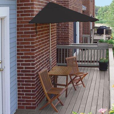 Terrace Mates Villa Economy 5 Piece Dining Set Color: Black Sunbrella
