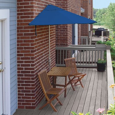 Terrace Mates Villa Economy 5 Piece Dining Set Color: Blue Sunbrella