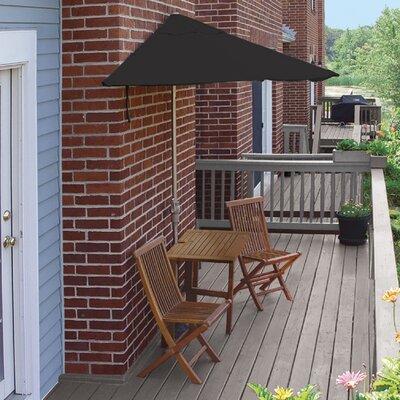 Terrace Mates Villa Premium 5 Piece Dining Set Color: Black Sunbrella