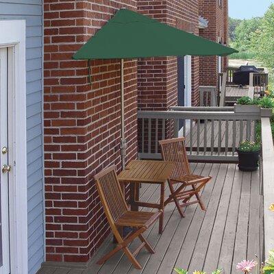 Terrace Mates Villa Premium 5 Piece Dining Set Color: Green Sunbrella