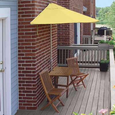 Terrace Mates Villa Premium 5 Piece Dining Set Color: Yellow Sunbrella