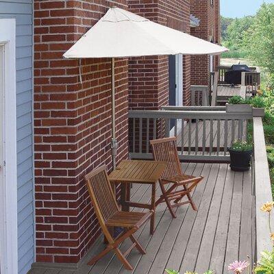 Terrace Mates Villa Premium 5 Piece Dining Set Color: Natural Sunbrella