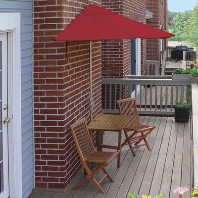 Terrace Mates Villa Premium 5 Piece Dining Set Color: Red Sunbrella