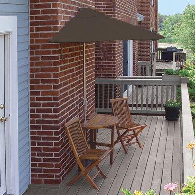 Terrace Mates Bistro Economy 5 Piece Dining Set Color: Chocolate Sunbrella