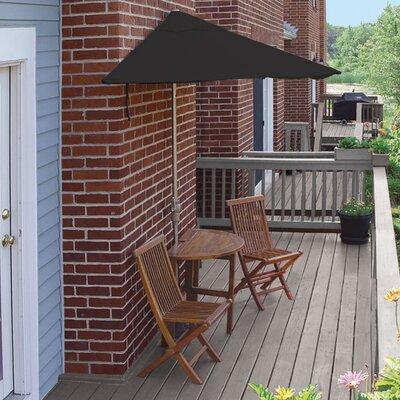 Terrace Mates Bistro Economy 5 Piece Dining Set Color: Black Sunbrella