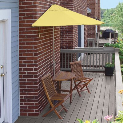 Terrace Mates Bistro Deluxe 5 Piece Dining Set Color: Yellow Sunbrella