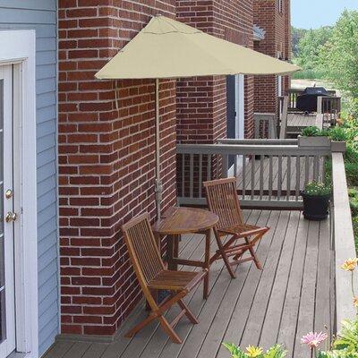 Terrace Mates Bistro Economy 5 Piece Dining Set Color: Antique Beige Sunbrella
