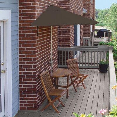 Terrace Mates Bistro Premium 5 Piece Dining Set Color: Chocolate Sunbrella