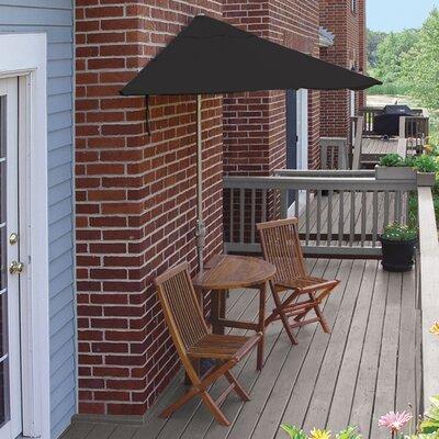 Terrace Mates Bistro Deluxe 5 Piece Dining Set Color: Black Sunbrella