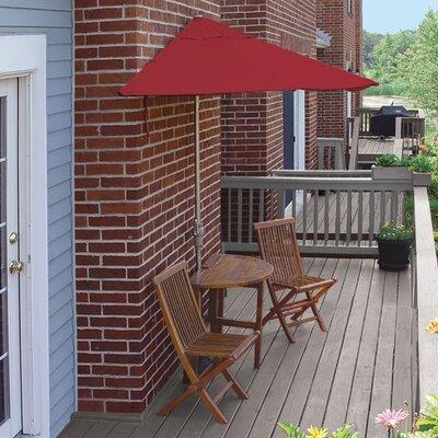 Terrace Mates Bistro Deluxe 5 Piece Dining Set Color: Red Sunbrella