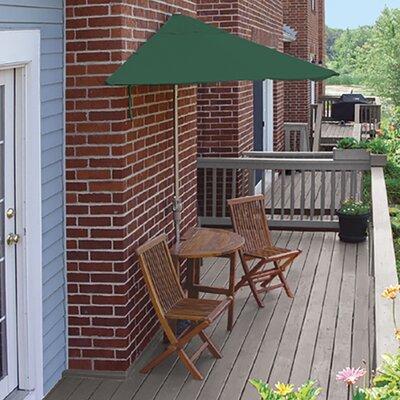 Terrace Mates Bistro Standard 5 Piece Dining Set Color: Green Sunbrella