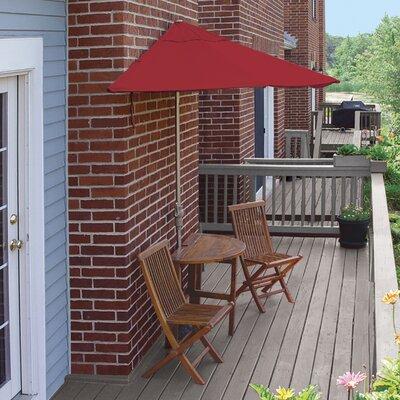 Terrace Mates Bistro Standard 5 Piece Dining Set Color: Red Sunbrella