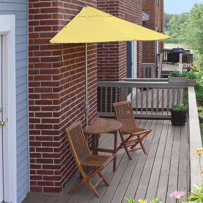 Terrace Mates Bistro Standard 5 Piece Dining Set Color: Yellow Sunbrella
