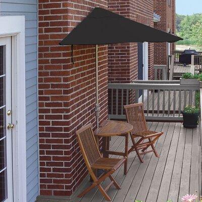 Terrace Mates Bistro Standard 5 Piece Dining Set Color: Black Sunbrella