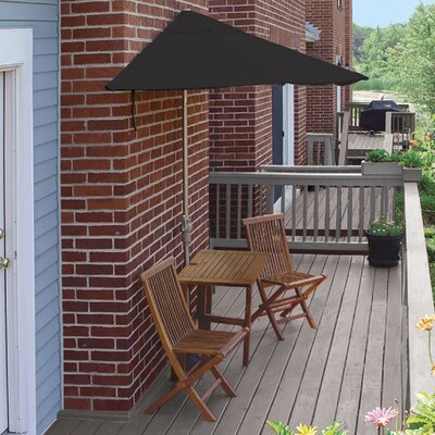 Terrace Mates Villa Standard 5 Piece Dining Set Color: Black Sunbrella